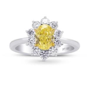 Кольцо, бриллиант Цвет: Желтый, Вес: 1.13 карат
