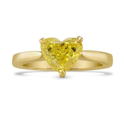 Fancy Intense Yellow Heart Diamond Solitaire Ring 1462692