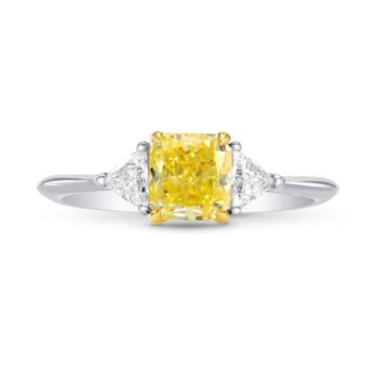Platinum Fancy Yellow Radiant & Triangle Diamond Ring 1471398