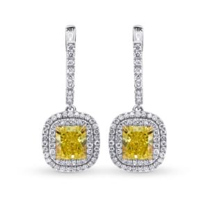 Fancy Intense Yellow Halo Drop Earrings 1479846