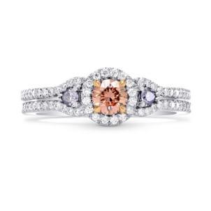 Argyle Fancy Orangy Pink & Fancy Blue Diamond Ring 1486158