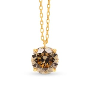 Light Brown Round Diamond Solitaire Pendant 1517436