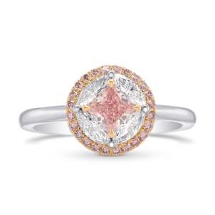 Fancy Intense Pink Princess Diamond Halo Ring 1547562