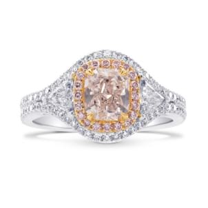 Faint Pink Radiant & Triangle Diamond Ring 1573290