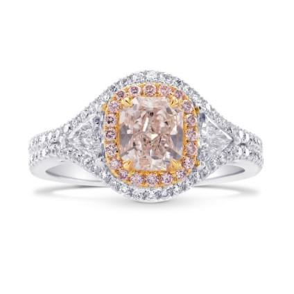 Кольцо, бриллиант Цвет: Коричневый, Вес: 0.86 карат