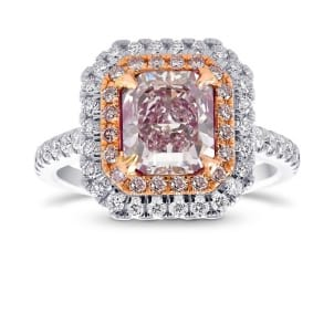 Кольцо, бриллиант Цвет: Розовый, Вес: 1.73 карат