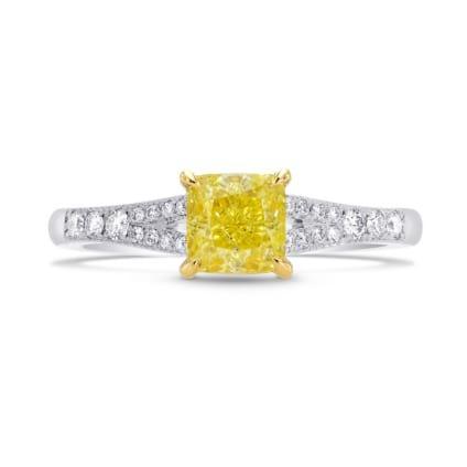 Fancy Intense Yellow Radiant Diamond Engagement Ring 1589322