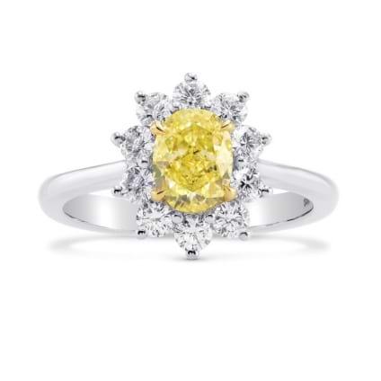 Кольцо, бриллиант Цвет: Желтый, Вес: 1.04 карат