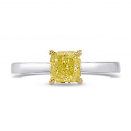 Fancy Yellow Cushion Diamond Solitaire Ring 1623648