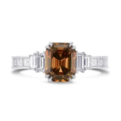 Trapezoid and Emerald Cut Diamond Side Stones Ring 1649826