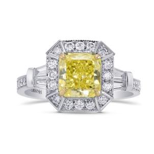 Fancy Intense Yellow, IF, Radiant Diamond Engagement Ring 1662552