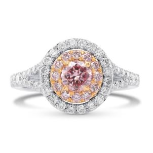 Fancy Pink Round Diamond Halo Ring 1693902