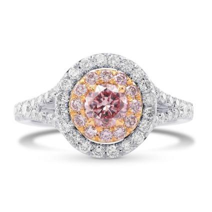 Кольцо, бриллиант Цвет: Розовый, Вес: 0.49 карат