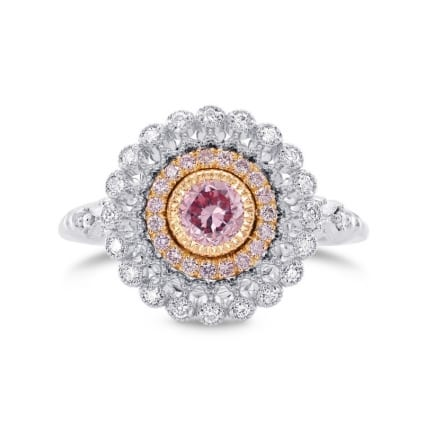Кольцо, бриллиант Цвет: Розовый, Вес: 0.42 карат