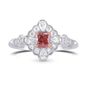 Argyle Vivid Pink and Diamond Antique Style Extraordinary Ring 1695150