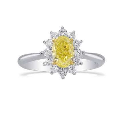 Кольцо, бриллиант Цвет: Желтый, Вес: 1.01 карат