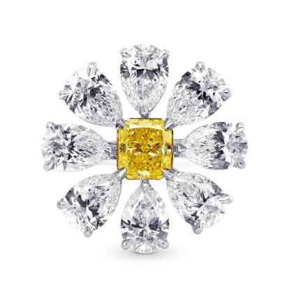 Fancy Vivid Yellow Designer Ring 170970