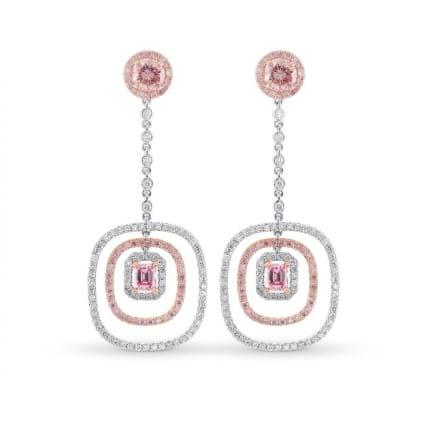Серьги, бриллиант Цвет: Розовый, Вес: 1.59 карат