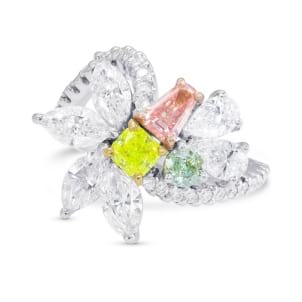 Extraordinary Mix color and Colorless Diamond Ring 171426