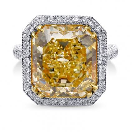 Кольцо, бриллиант Цвет: Желтый, Вес: 11.13 карат