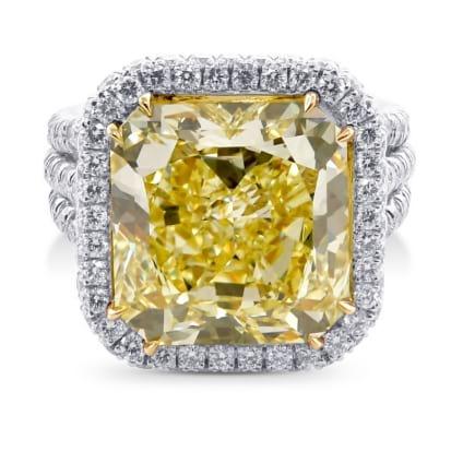 Кольцо, бриллиант Цвет: Желтый, Вес: 10.24 карат