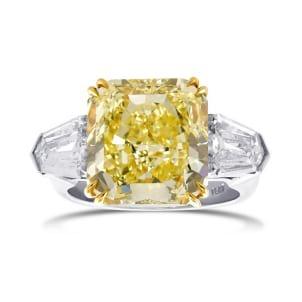 Кольцо, бриллиант Цвет: Желтый, Вес: 7.01 карат
