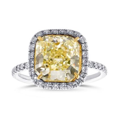 Кольцо, бриллиант Цвет: Желтый, Вес: 3.79 карат