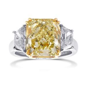 Кольцо, бриллиант Цвет: Желтый, Вес: 5.59 карат