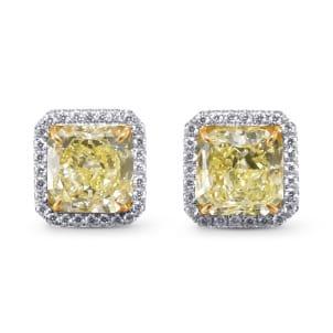 Серьги, бриллиант Цвет: Желтый, Вес: 6.61 карат