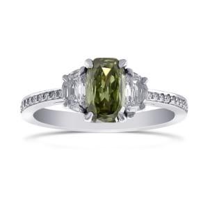 Кольцо, бриллиант Цвет: Хамелеон, Вес: 0.73 карат