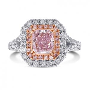 Кольцо, бриллиант Цвет: Розовый, Вес: 1.02 карат