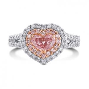 Кольцо, бриллиант Цвет: Розовый, Вес: 0.50 карат