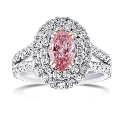 Кольцо, бриллиант Цвет: Розовый, Вес: 0.67 карат