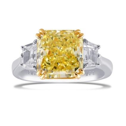 Кольцо, бриллиант Цвет: Желтый, Вес: 4.20 карат