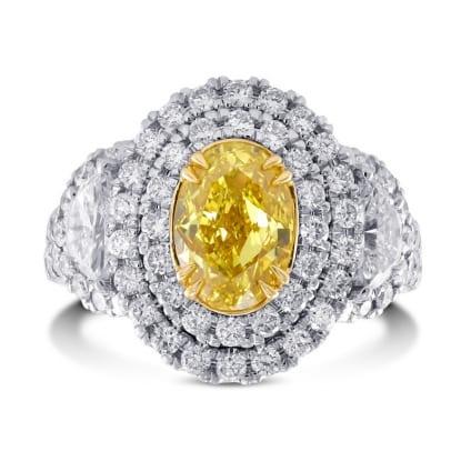 Кольцо, бриллиант Цвет: Желтый, Вес: 1.50 карат
