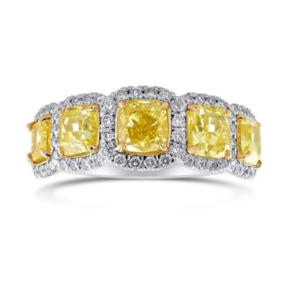 Кольцо, бриллиант Цвет: Желтый, Вес: 2.84 карат