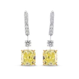 Серьги, бриллиант Цвет: Желтый, Вес: 7.76 карат