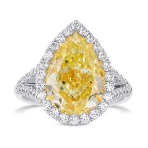 Кольцо, бриллиант Цвет: Желтый, Вес: 5.02 карат