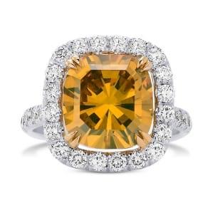 Кольцо, бриллиант Цвет: Желтый, Вес: 5.17 карат