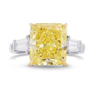 Кольцо, бриллиант Цвет: Желтый, Вес: 4.76 карат