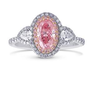 Кольцо, бриллиант Цвет: Розовый, Вес: 0.72 карат