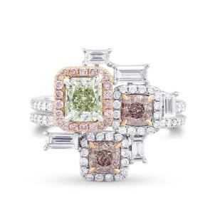 'Stepping Stones' Extraordinary Designer Diamond Ring 1767990
