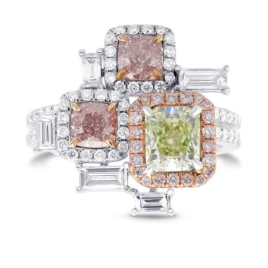 'Stepping Stones' Extraordinary Designer Diamond Ring 1767990