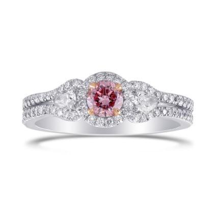 Кольцо, бриллиант Цвет: Розовый, Вес: 0.31 карат