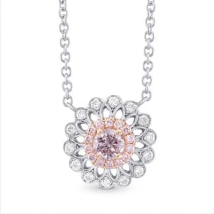 Pink Diamond Filigree Pendant 1837386