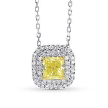 Подвеска, бриллиант Цвет: Желтый, Вес: 0.73 карат