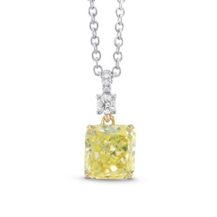 Fancy Yellow Radiant Drop Pendant 1839054