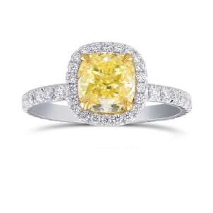 Кольцо, бриллиант Цвет: Желтый, Вес: 2.06 карат