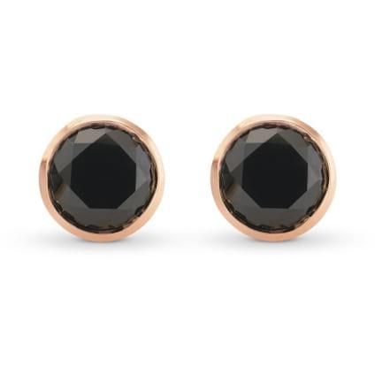 Серьги, бриллиант Цвет: Черный, Вес: 4.41 карат