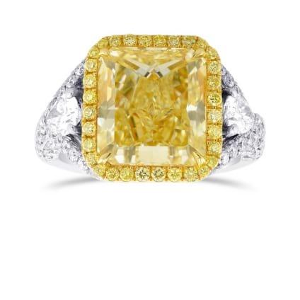 Кольцо, бриллиант Цвет: Желтый, Вес: 5.06 карат